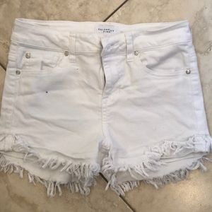 Celebrity Pink White Jean shorts